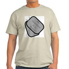My Grandson is a Sailor dog tag Ash Grey T-Shirt