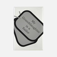 My Granddaughter is a Sailor dog tag Rectangle Ma