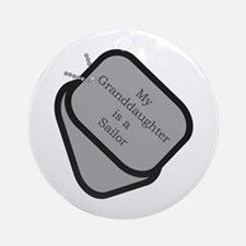 My Granddaughter is a Sailor dog tag Ornament (Ro