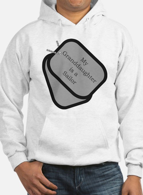 My Granddaughter is a Sailor dog tag Hoodie