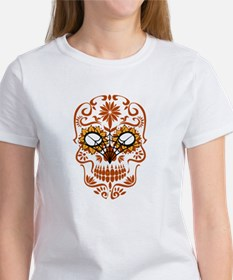 Orange Sugar Skull T-Shirt