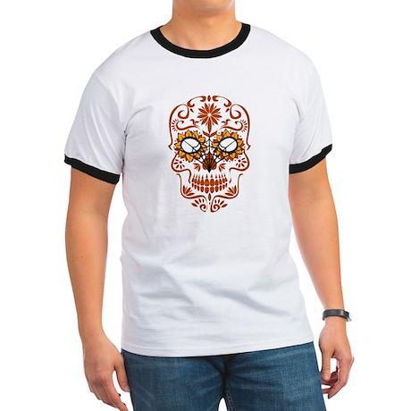 Orange Sugar Skull T-Shirt