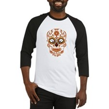 Orange Sugar Skull Baseball Jersey
