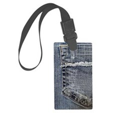 Tattered Jeans Pocket Luggage Tag