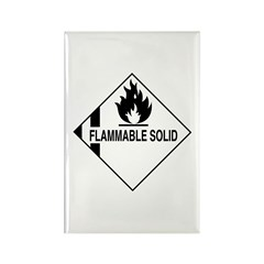 Flammable Solid Rectangle Magnet (10 pack)