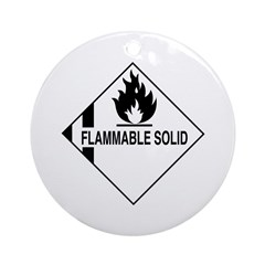 Flammable Solid Ornament (Round)