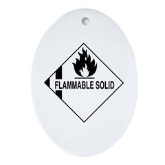 Flammable Solid Oval Ornament