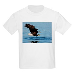 Bald Eagle Fishing Kids T-Shirt