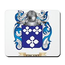 Vincent Family Crest (Coat of Arms) Mousepad