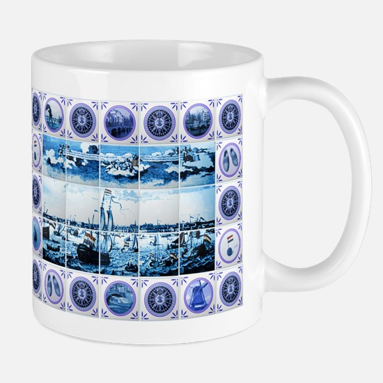 Vintage Old Dutch Delftware Style Mural Mug