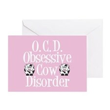 Funny Cow Greeting Card
