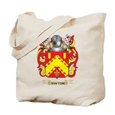 Vinton Family Crest (Coat of Arms) Tote Bag