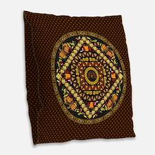 Thanksgiving Icons Burlap Throw Pillow
