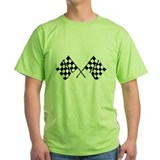 Checkerd flag Green T-Shirt