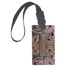 Brown Carved Deco Luggage Tag