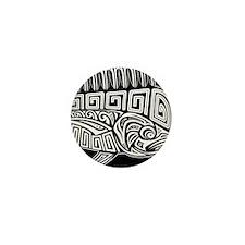 Polynesian Mahi Mini Button