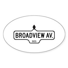 Broadview Av., Toronto - Canada Oval Decal