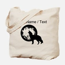 Custom Wolf Howling At Moon Tote Bag