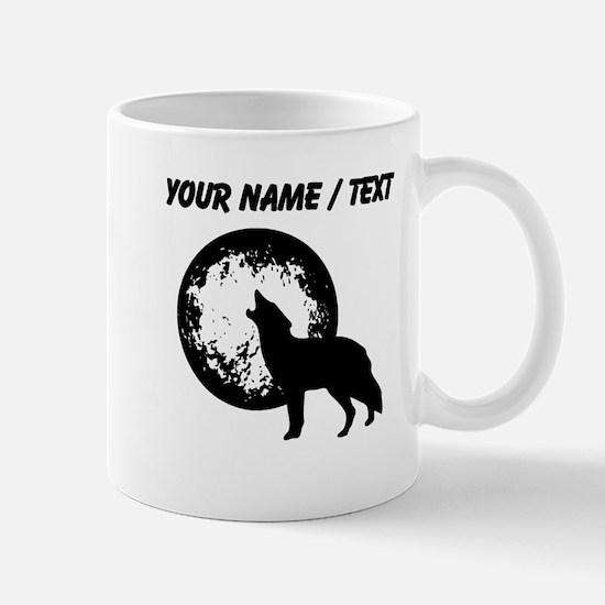 Custom Wolf Howling At Moon Mugs