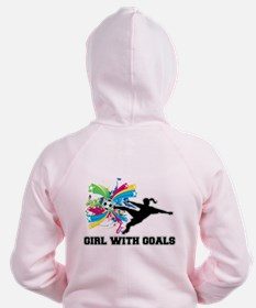 Girl with Goals Zip Hoodie