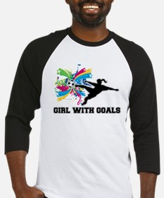 Girl with Goals Baseball Jersey