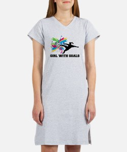 Girl with Goals Women's Nightshirt