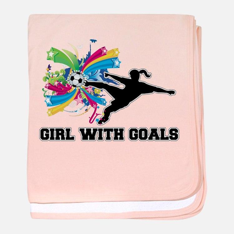 Girl with Goals baby blanket