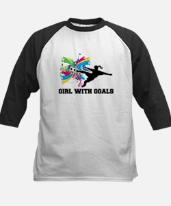 Girl with Goals Kids Baseball Jersey