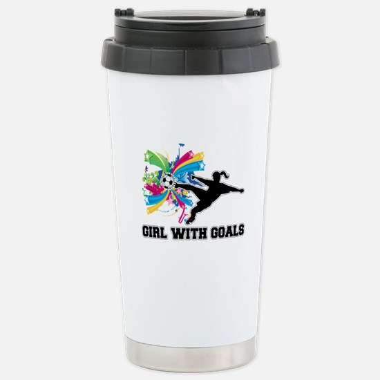 Girl with Goals Stainless Steel Travel Mug