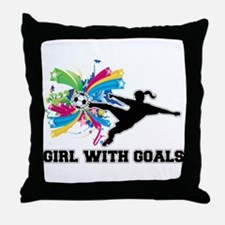 Girl with Goals Throw Pillow