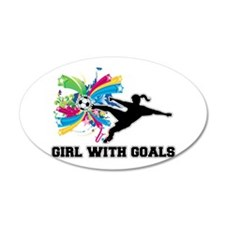 Girl with Goals Wall Decal Sticker