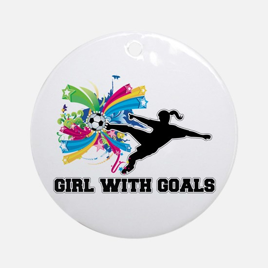 Girl with Goals Ornament (Round)