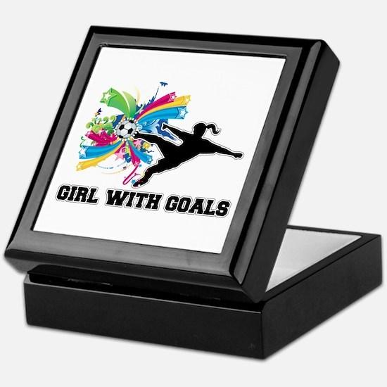 Girl with Goals Keepsake Box