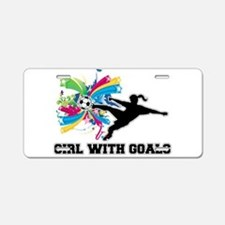Girl with Goals Aluminum License Plate