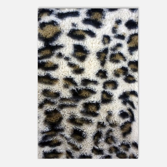White Brown Leopard Spots Postcards (Package of 8)