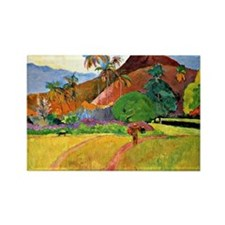 Gauguin - Tahitian Mountains Rectangle Magnet