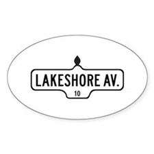 Lakeshore Av., Toronto - Canada Oval Decal