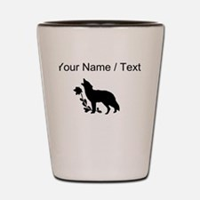 Custom Black Howling Wolf Silhouette Shot Glass