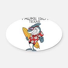 Padre Island, Texas Oval Car Magnet