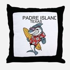 Padre Island, Texas Throw Pillow