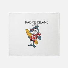 Padre Island, Texas Throw Blanket