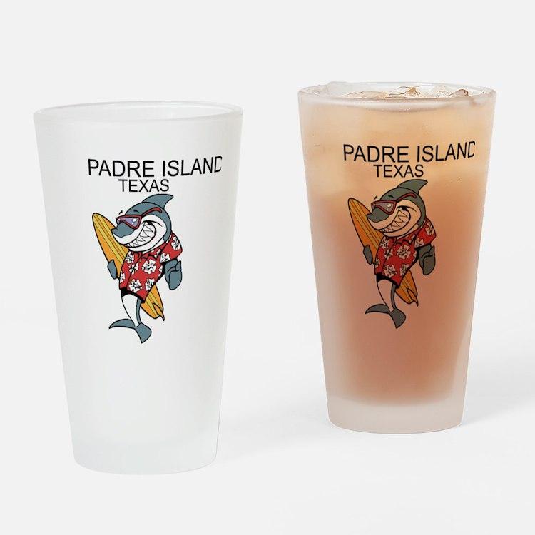 Padre Island, Texas Drinking Glass