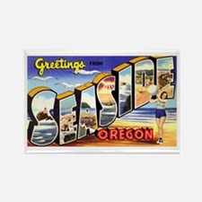 Seaside Oregon Greetings Rectangle Magnet