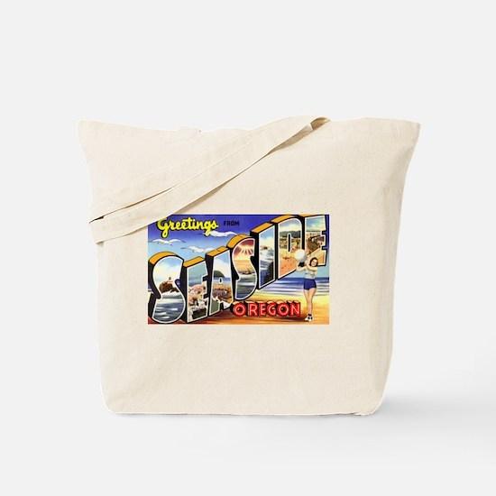 Seaside Oregon Greetings Tote Bag