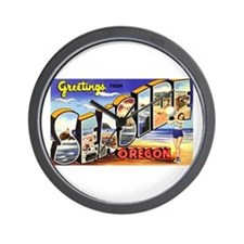Seaside Oregon Greetings Wall Clock