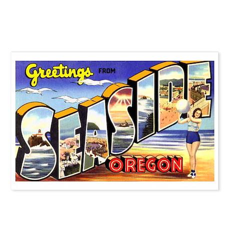 Seaside Oregon Greetings Postcards (Package of 8)