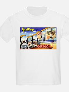 Seaside Oregon (Front) Kids T-Shirt