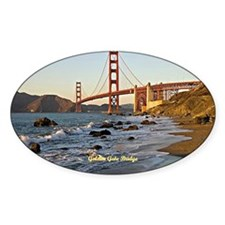 Golden Gate Bridge (labeled) Decal