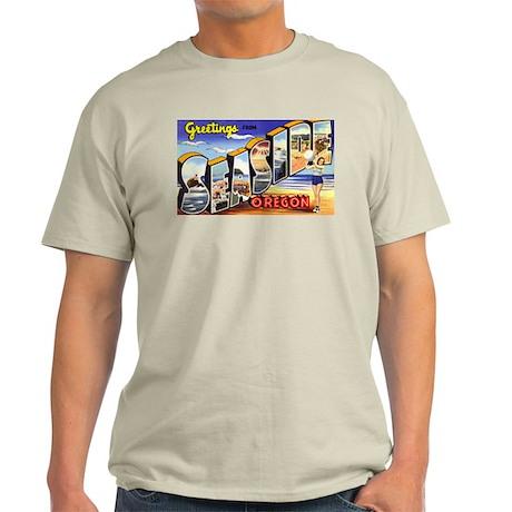 Seaside Oregon Greetings Ash Grey T-Shirt