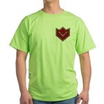 Masonic Square and Compasses Chevron Green T-Shirt